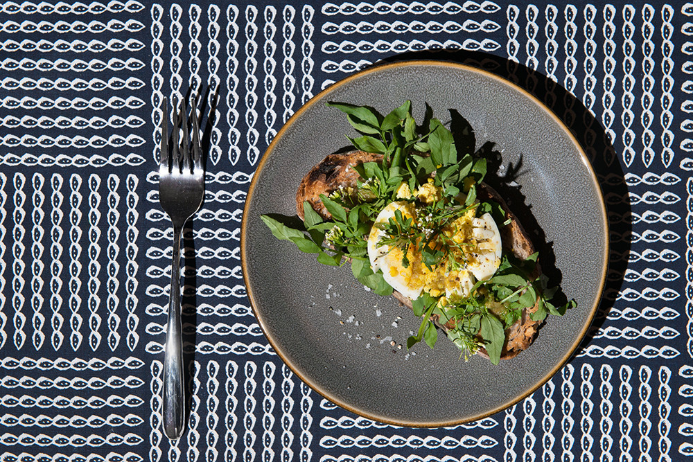 Watercress and Egg Toast. Photography: Jamie Ramsay