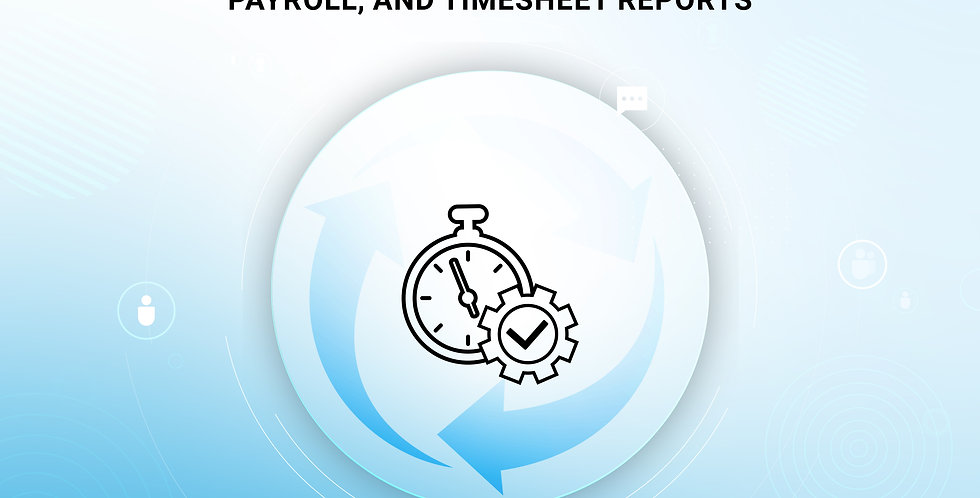 Automate time off, remote work, payroll, and timesheet reports