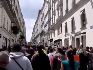 French Protest against Mandatory Vaccine rules