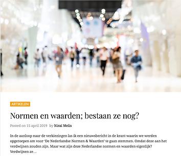Normen en waarden Nederland