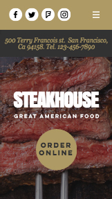 Restaurant website templates – Steakhouse