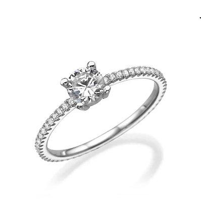 טבעת זירקון קלאסית