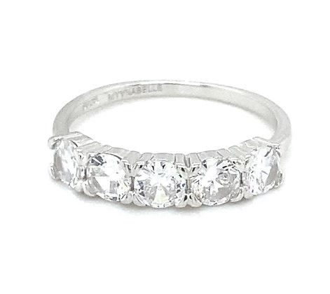 טבעת 5 אבנים