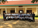 A group of students in Cambodia