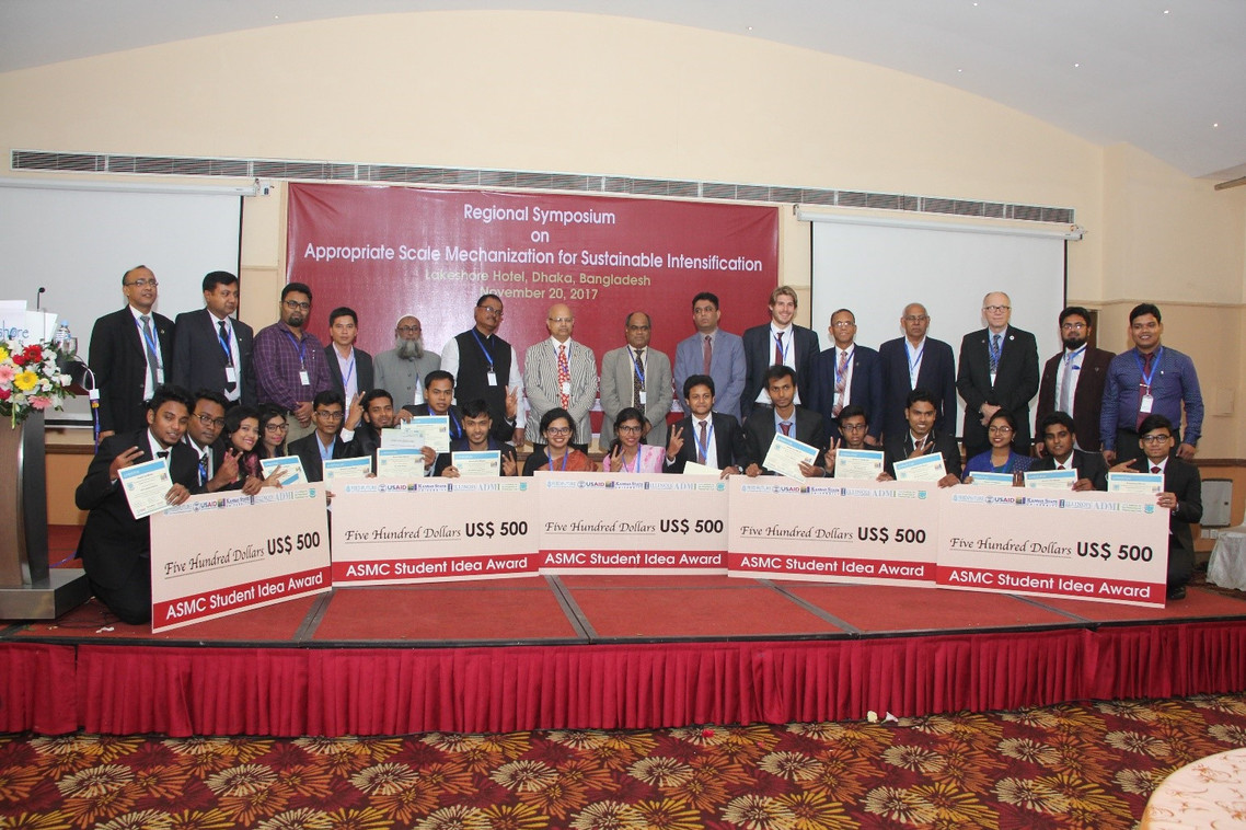 Student competition winners from the 2017 Regional Symposium in Bangladesh