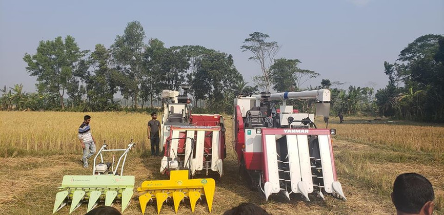 Reapers and harvesters on display in Bangladesh