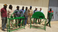ASMC team members Dr. Tim Harrigan and Robert Burdick trained 4 artisan and an ISRA scientist on the biomass chopper building at Lycée Andrey Peytavin of St Louis, Senegal