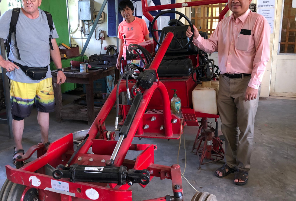 The Oggun Tractor is presented in Cambodia