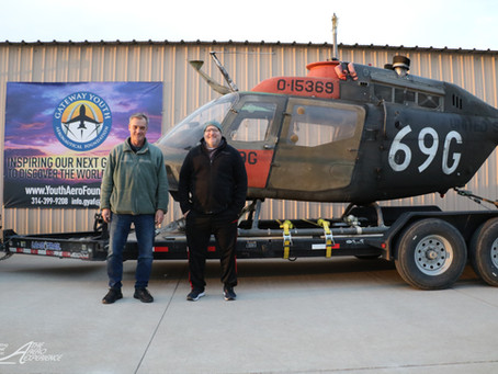 Gateway Youth Aeronautical Foundation Receives Bell OH-58C Kiowa Helicopter for STEM Program
