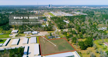 Aerial CRE Property Listing.