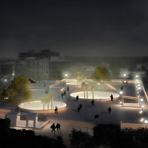 NEW SQUARES AND SHOPPING CENTER