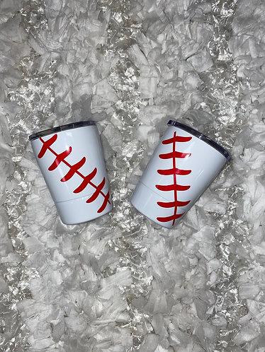 12oz Baseball Tumbler