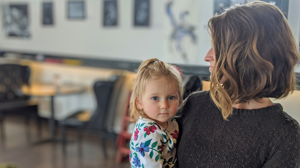 Jill and her daughter hanging out at Alpha Brewing Company in St. Louis