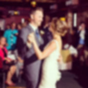 Nick and Jillian's first dance at their wedding.