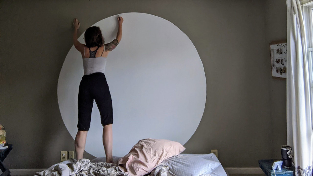 Painting a giant circle on the wall