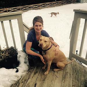 Jillian with her dog, Jameson