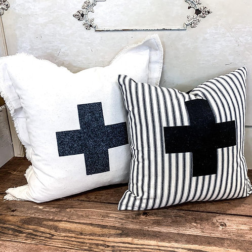 swiss pillow cover