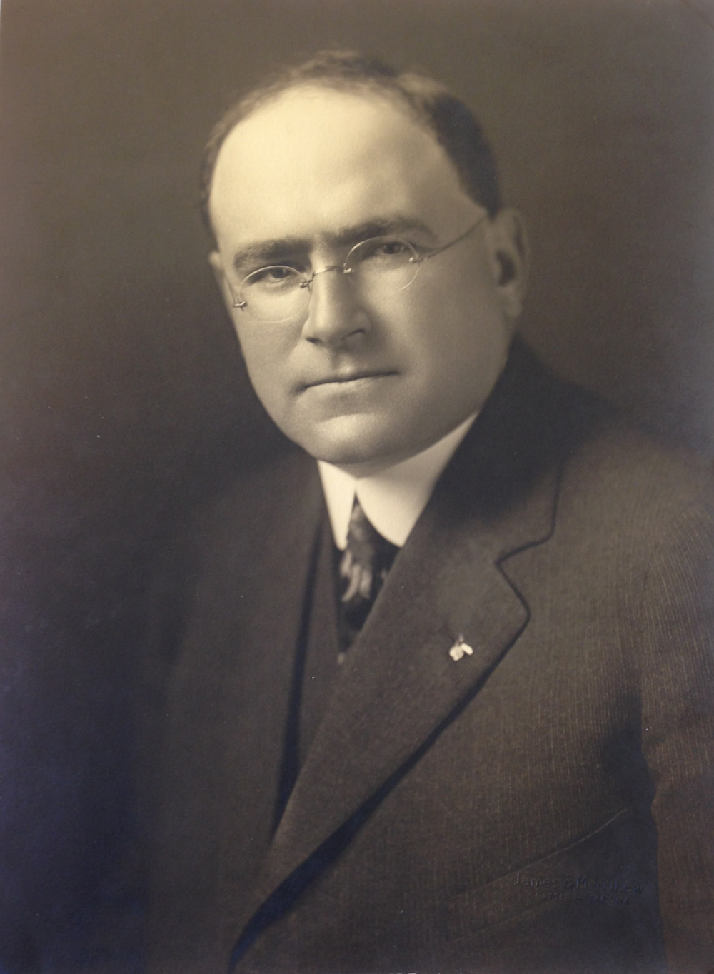 """Leopold David, first mayor of Anchorage, 1915"""