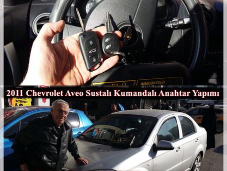 2011 Chevrolet Aveo Sustalı Kumandalı Anahtar Yapımı