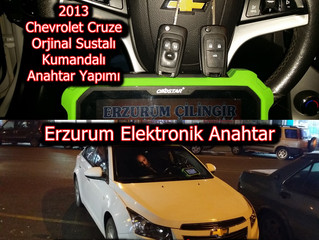 2013 Chevrolet Cruze Orjinal Sustalı Kumandalı Anahtar Yapımı