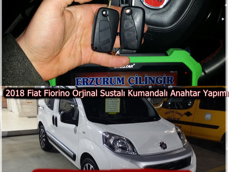 2018 Fiat Fiorino Orjinal Sustalı Kumandalı Anahtar Yapımı