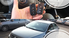 2012 Volkswagen Jetta Kayıptan 2 Adet Orjinal Sustalı Kumandalı Anahtar Yapımı