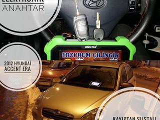 2012 Hyundai Accent Era Kayıptan Sustalı Kumandalı Anahtar Ve İmmobilizer Yedek Anahtar Yapımı