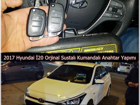 2017 Hyundai İ20 Orjinal Sustalı Kumandalı Anahtar Yapımı