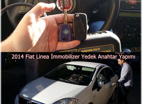 2014 Fiat Linea İmmobilizer Anahtar Yapımı