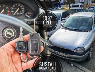 1997 Opel Corsa Sustalı Kumandalı Anahtar Yapımı