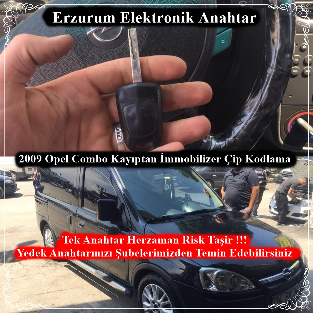 2009 Opel Combo Kayıptan İmmobilizer Çip Kodlama
