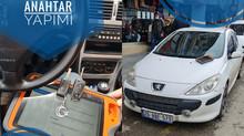 2007 Peugeot 307 Yeni Nesil Sustalı Kumandalı Anahtar Yapımı