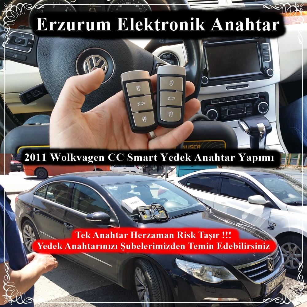 2011 Wolkvagen CC Smart Yedek Anahtar Yapımı