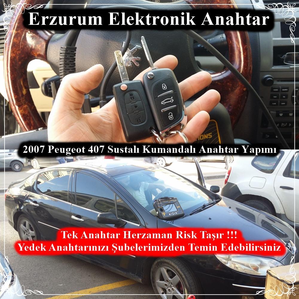 2007 Peugeot 407 Sustalı Kumandalı Anahtar Yapımı