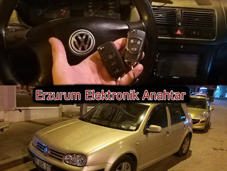 2001 Volkswagen Golf Kayıptan 2 Adet Sustalı Kumandalı Anahtar Yapımı