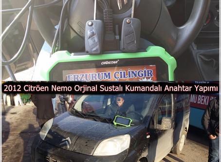 2012 Citröen Nemo Orjinal Sustalı Kumandalı Anahtar Yapımı