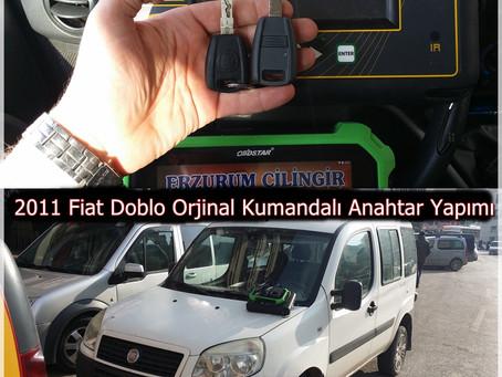 2011 Fiat Doblo Orjinal Kumandalı Anahtar Yapımı
