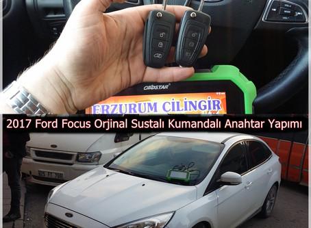 2017 Ford Focus Orjinal Sustalı Kumandalı Anahtar Yapımı