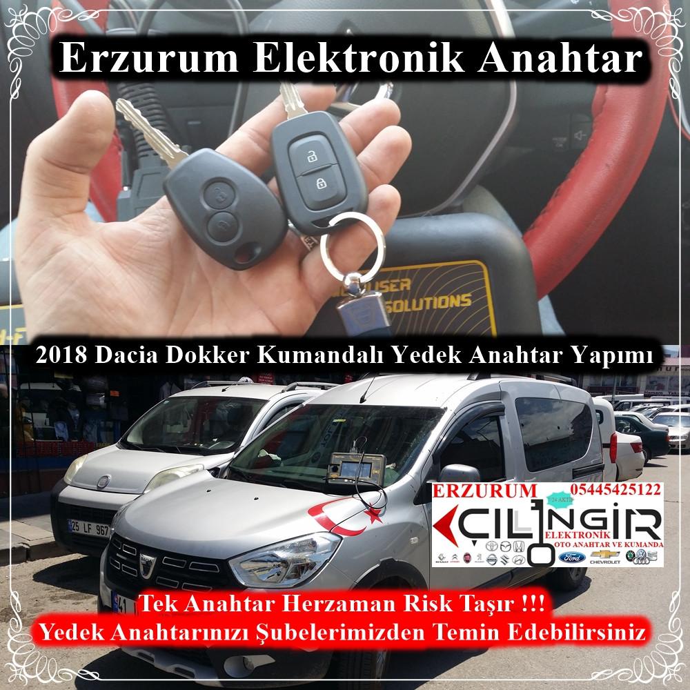 2018 Dacia Dokker Kumandalı Yedek Anahtar Yapımı