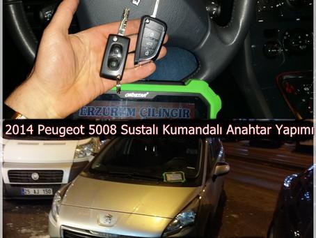 2014 Peugeot 5008 Sustalı Kumandalı Anahtar Yapımı