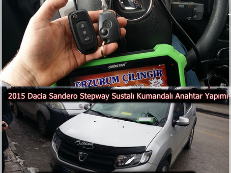 2015 Dacia Sandero Stepway Sustalı Kumandalı Anahtar Yapımı