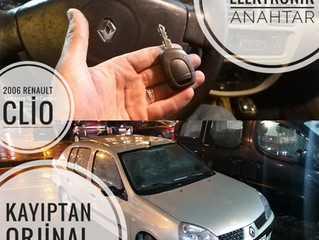 2006 Renault Clio Kayıptan Orjinal Kumandalı Anahtar Yapımı