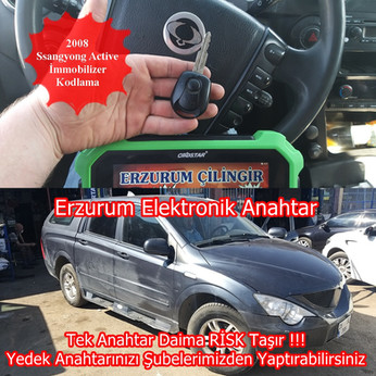 2008 Ssangyong Active İmmobilizer Kodlam