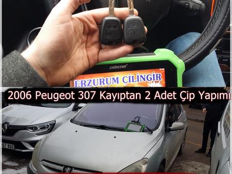 2006 Peugeot 307 Kayıptan 2 Adet Çip Yapımı
