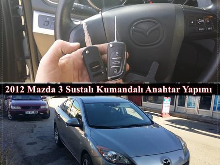 2012 Mazda 3 Sustalı Kumandalı Anahtar Yapımı