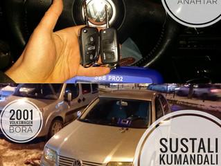 2001 Volkswagen Bora Sustalı Kumandalı Anahtar Yapımı