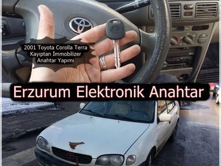 2001 Toyota Corolla Terra Kayıptan İmmobilizer Anahtar Yapımı