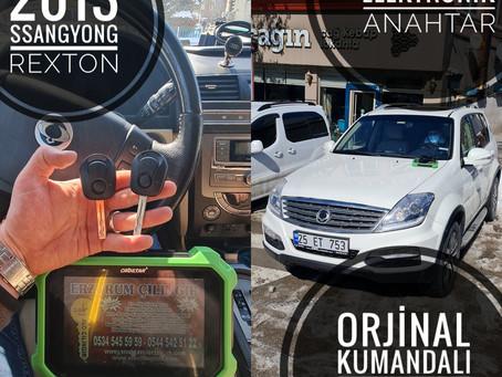 2013 Ssangyong Rexton Orjinal Kumandalı Anahtar Yapımı