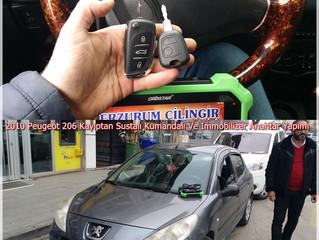2010 Peugeot 206 Kayıptan Sustalı Kumandalı Ve İmmobilizer Anahtar Yapımı