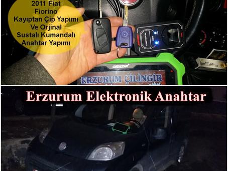2011 Fiat Fiorino Kayıptan Çip Yapımı Ve Orjinal Sustalı Kumandalı Anahtar Yapımı